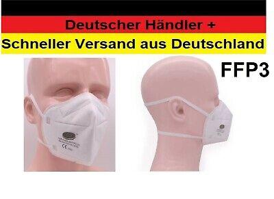 5x Premium FFP3 Maske 5-lagig Atemschutzmaske Mundschutz Kopfbänder HJR