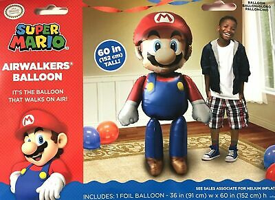 Super Mario Brothers Airwalker Birthday Party Jumbo Balloon Decoration Prop - Mario Brothers Decorations