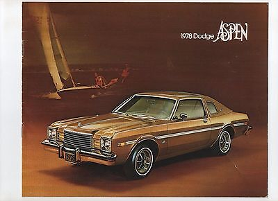 1978 Dodge Aspen brochure