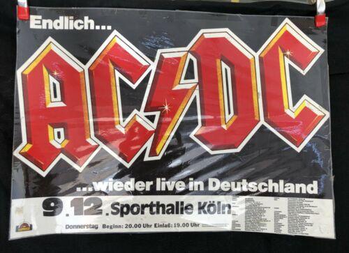 Rare Vintage AC/DC Sunrise German Tour Poster - See Photos