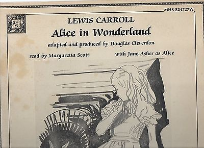"ALICE IN WONDERLAND JANE ASHER 12"" VG 33rpm GATEFOLD 1983 DOUBLE LP STAGE SCREEN"