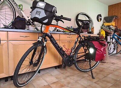 e-bike Bulls EVO Cross,Brose, Rahmen 61 cm, aus 2019, mit Taschen, Gepäckträger