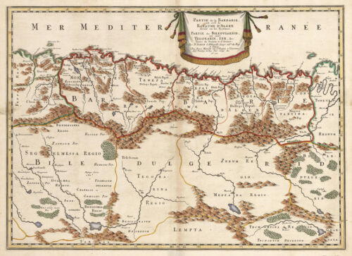 1655 Map of Northern Africa