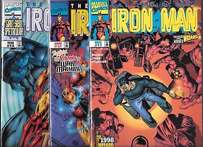 THE INVINCIBLE IRON MAN LOT OF 3 - #11 #12 #13 GIANT-SIZED (NM-) HEROES RETURN