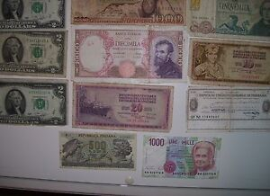 REDUCED 17 Assorted Canadian USA,Italian Mexican paper currency, Cornwall Ontario image 5
