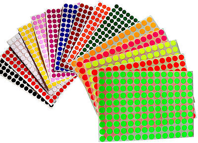 Color Coding Stickers 38 Rounded Labels Small Dots 0.375 Inch Circular 10 Mm