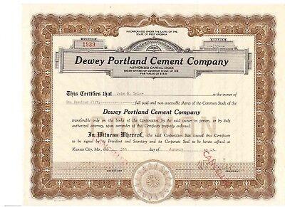 Dewey Portland Cment Company  1949  U: Tyler