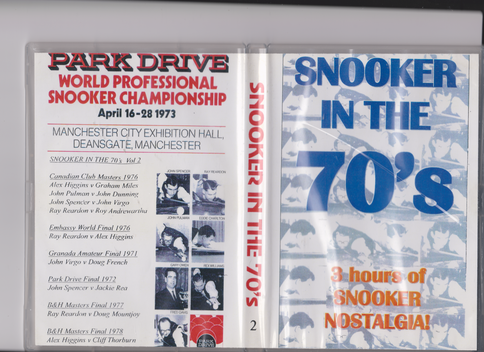 SNOOKER IN the 70s.Sports  dvd  3 hours of Snooker Nostalgia