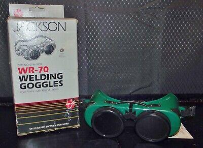Vintage Jackson Wr-70 Green Round Lens Welding Goggles Wbox Steampunk Mint
