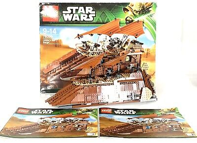 LEGO 75020 Star Wars Jabba's Sail Barge Boxed With Instruction Manuals