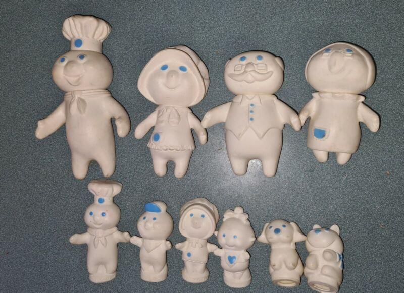 Pillsbury Doughboy Family Doll Set  Grandma & Pa, Dog, Cat ++