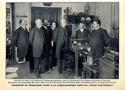 Prof.Dr.A. Korn Erfinder Fernphotographie St.- Sekr. Reichspostamts Kraetke 1911