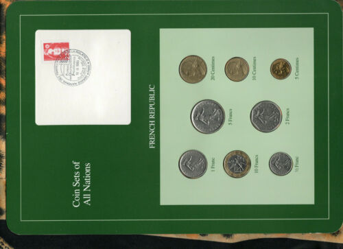 Coin Sets of All Nations France French 1969-1991 UNC 2 Francs 1979 5 Francs 1975