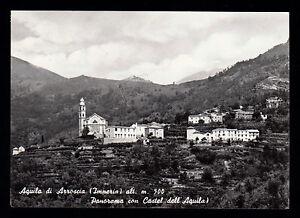 AQUILA-DI-ARROSCIA-IMPERIA-CARTOLINA-PANORAMA-CON-CASTEL-DELL-039-AQUILA-FG-VG-1965