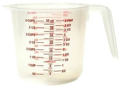 Kitchen Collection 4-Cup Plastic Measuring Cup