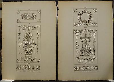 Michelangelo Pergolesi, Two Folio Prints, 1777