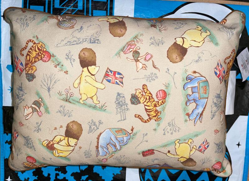 "Disney Parks UK LONDON Pooh Throw Pillow 16"" x 12"" Absolutely Adorable"