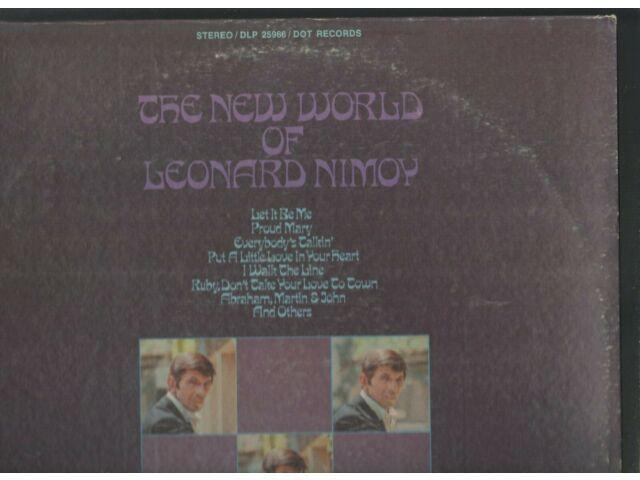 LEONARD NIMOY - The New World Of - DOT 70s pop LP