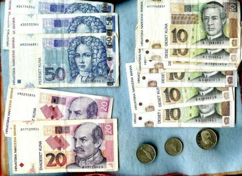 CROATIA ~ 268 KUNA FACE VALUE LOT ~ COINS & CURRENCY