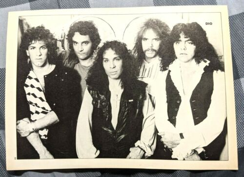 RONNIE JAMES DIO / JIMMY BAIN / BAND MAGAZINE FULL PAGE PINUP POSTER CLIPPING