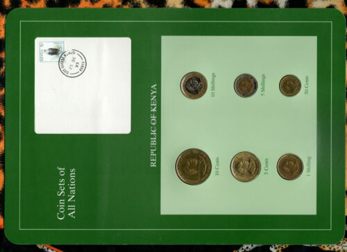 Coin Sets of All Nations Kenya UNC 1991-1995 10 Shillings 1994 1,5 Shilling 1995