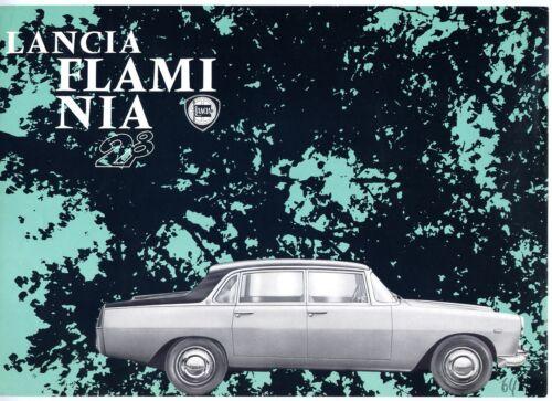 Lancia Flaminia 2.8 Berlina Pininfarina brochure Prospekt, 1963