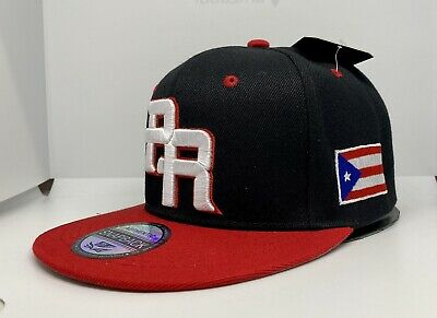 PUERTO RICO WBC 3-D EMBROIDERED - FLAG ON SIDE SNAPBACK HAT - FREE PIN GIFT