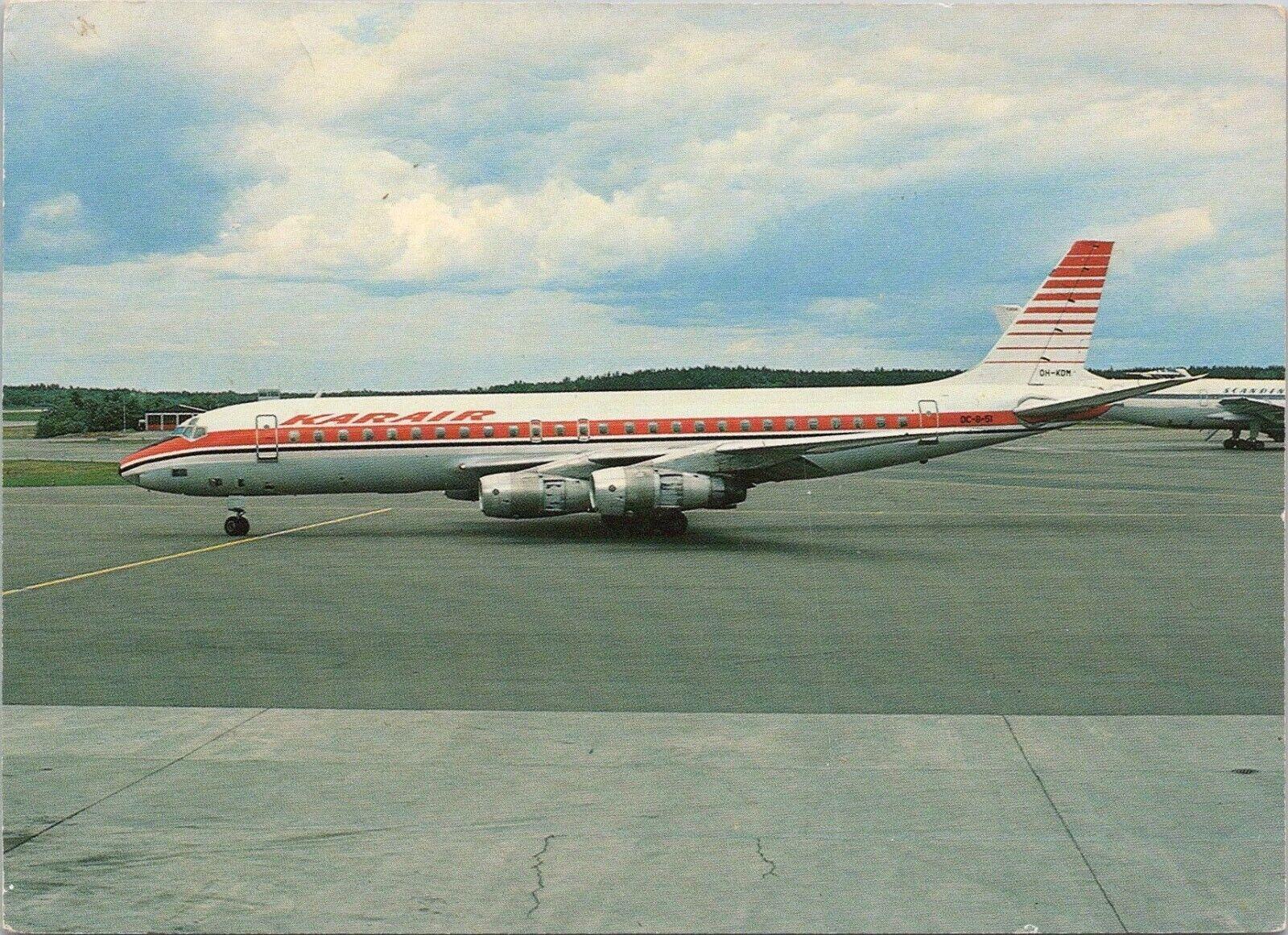 Continental Postcard, Kar Air, DC 8-51 OH-KDM , Aircraft  - $0.01