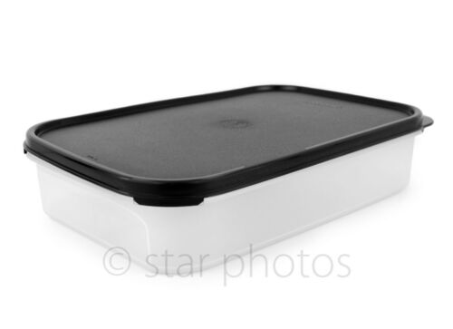 Tupperware Modular Mates 8.5 Cup Rectangular #1 Container w/ Black Seal - New!
