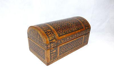 Seltene Schatulle mit Einlegearbeit England Tunbridge ware Intarsien um 1850