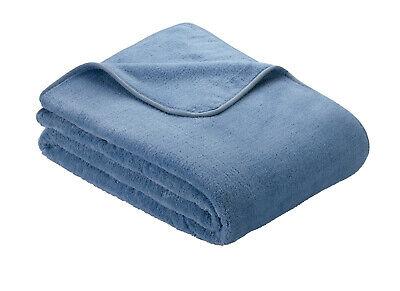 Light Blue Ibena S.OLIVER Plain Wellsoft Cosy Throw / Blanket 150cm x 200cm