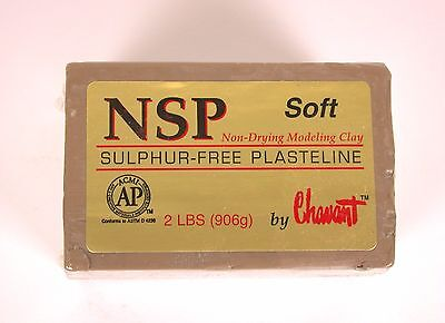 Chavant NSP Non-Drying Modeling Clay-Soft-Tan-sculpting modeling