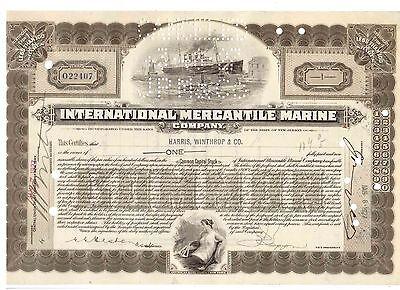 IMM International Mercantil Marine 1927 Titanic White Star Line