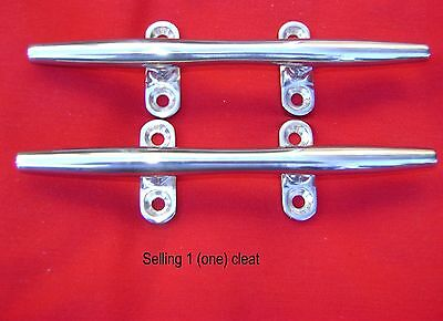 """s. s. Stainless Steel Herreshoff boat yacht dock deck line rope cleat 15"""""""