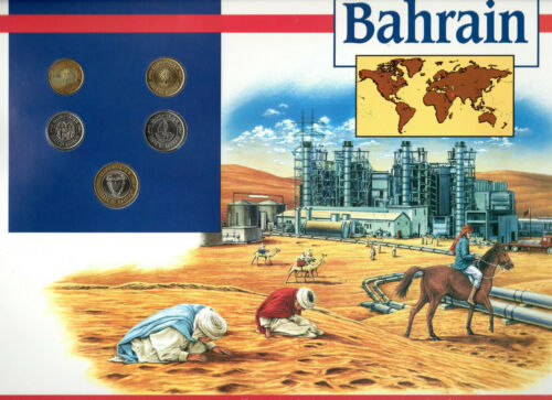 Coins of the World Bahrain 100,50,25,10,5 Fils 1992 Brilliant Unc