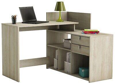 Escritorio Vista color roble altillo mesa oficina despacho mueble 87x121x109 cm