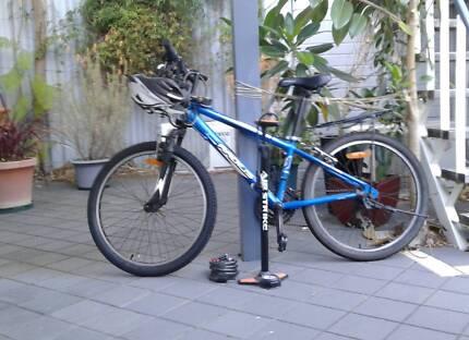 Alloy Blue Azur SP50 Bike//Cycling Pump Clever Valve Pump With Gauge