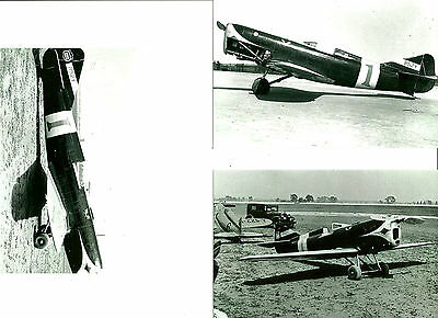 SET 114 - KEITH RIDER R-2 AIRPLANE RACER - LOT OF 3 B&W PHOTOGRAPHS