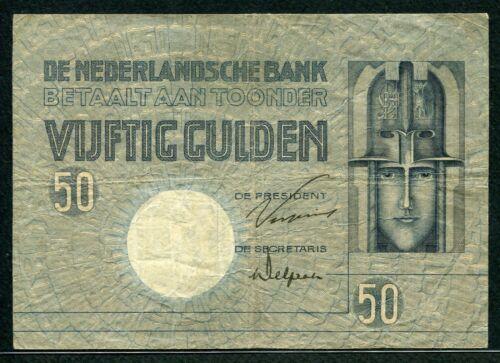 Netherlands 1929, 50 Gulden, P47, VF