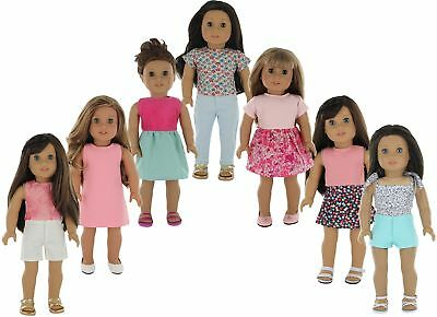 American Girl Doll Clothes Wardrobe Makeover- 7 Complete Out