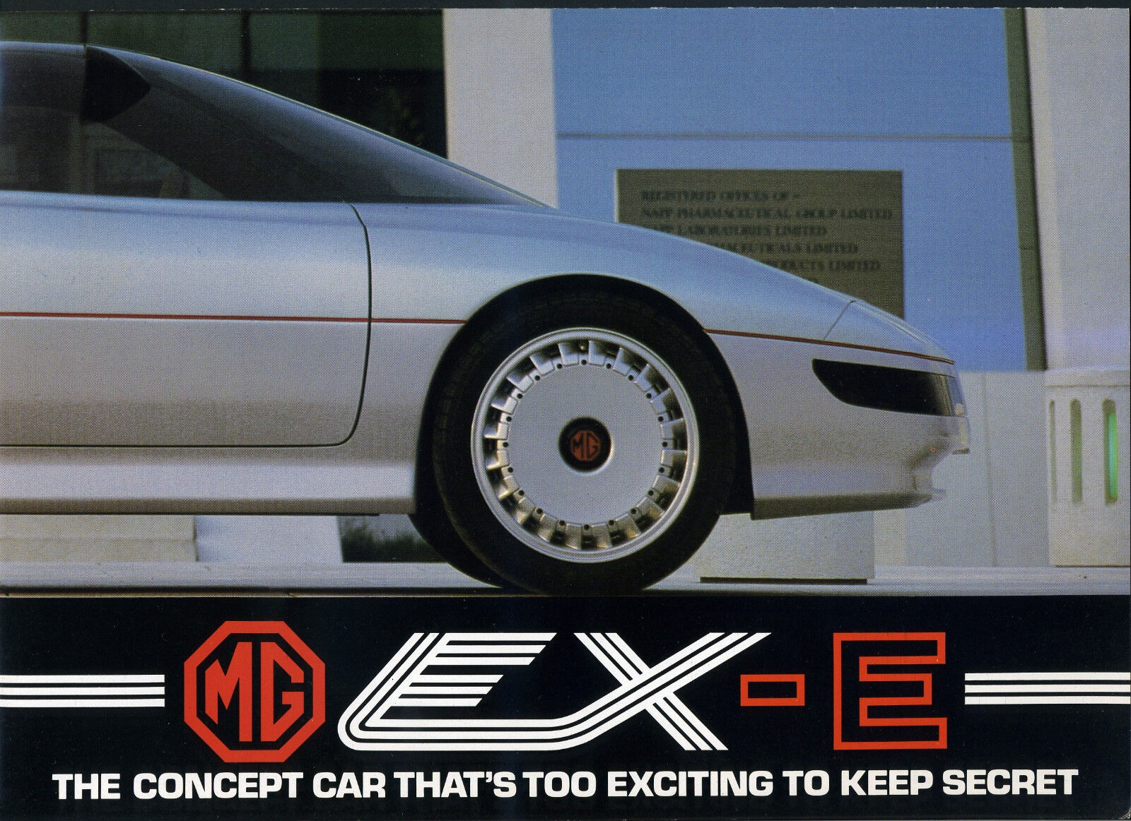 MG EX-E El concepto de coche es también exciting mantener en secreto folleto A4