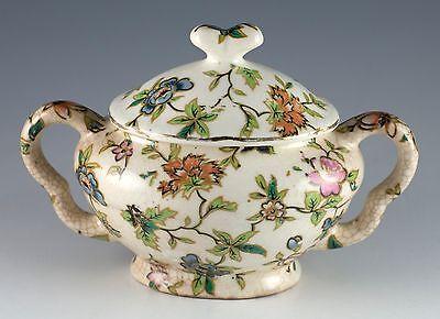 Vintage Ceramic Lidded Sugar Bowl MM Made In Japan