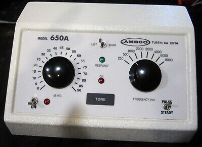 Ambco 650a Audiometer Pure Tone Audiometers