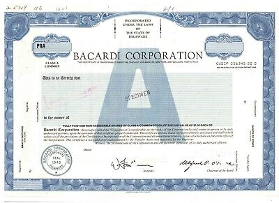 RAR: Bacardi Corporation    Rum