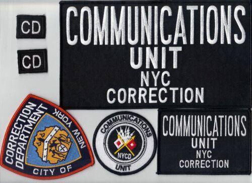Department of Corrections Communications Unit  6-piece Patch Set