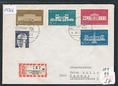 11306) Sonder R-Zettel München Olympiade, Brief SST Eröffnungsfeier SST 26.8.72