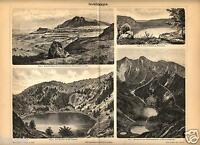 1875= Formazioni Marine = Geologia = Stampa Antica = Old Engraving -  - ebay.it