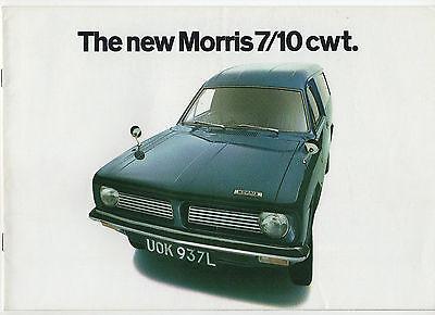 1973 Morris 7/10 cwt. (Morris Marina) van brochure