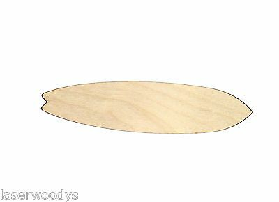 Fish Surfboard Unfinished Wood Shape Cut Out FS1508 Crafts Lindahl Woodcrafts  - Fish Crafts