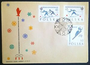 POLAND-STAMPS FDC Fi1149-51a Sc1046-48 Mi1294-96a - Championship Ski Cup - 1962 - <span itemprop=availableAtOrFrom>Reda, Polska</span> - POLAND-STAMPS FDC Fi1149-51a Sc1046-48 Mi1294-96a - Championship Ski Cup - 1962 - Reda, Polska